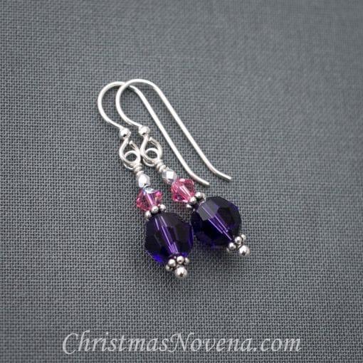 Advent Earrings Violet-Purple