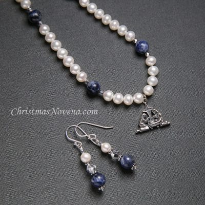 Christmas Earrings and Necklace Saint Andrew Christmas Novena