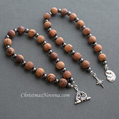 St Andrew Christmas Novena Olive Wood Beads